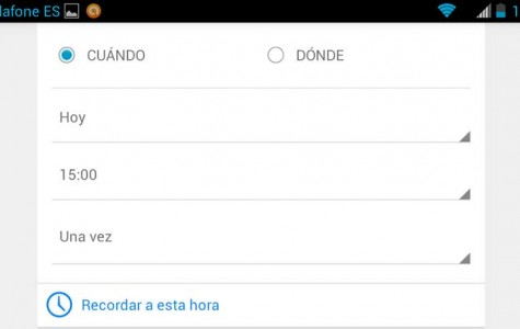 Establecer recordatorios por voz con Google Now