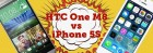 Comparativa HTC One M8 frente a iPhone 5S