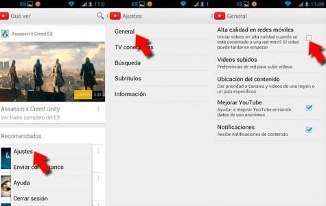 Cambiar la calidad de los vídeos que reproducimos en YouTube