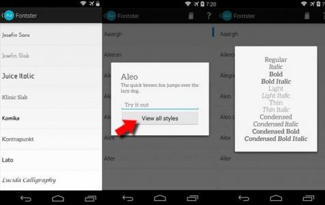 Personaliza tu Sony Xperia Z2 cambiando el tipo de letra