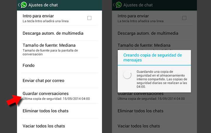 Recupera los mensajes borrados de WhatsApp en Android