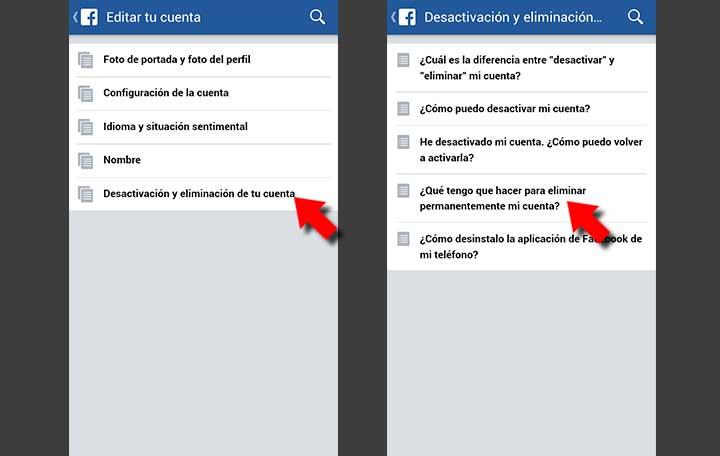 Como eliminar para siempre tu cuenta y datos de facebook - Como panelar una pared ...