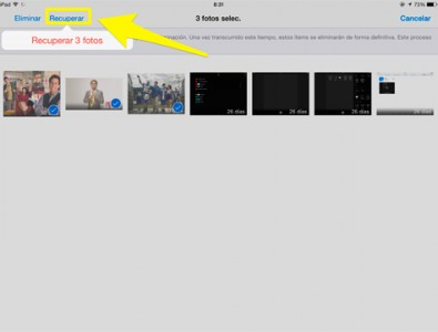 Cómo recuperar en tu iPhone o iPad imágenes o vídeos borrados