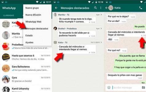 Cómo destacar mensajes de WhatsApp