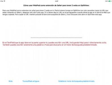 webpad-instrucciones