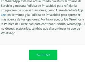 Whatsapp ya no te permite evitar que comparta tus datos con Facebook