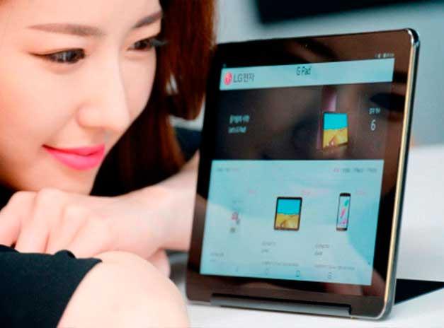 LG G Pad III 10.1 amb el sistema 'kickstand'