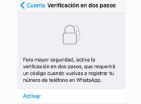 Cómo activar en tu iPhone la verificación en dos pasos de WhatsApp