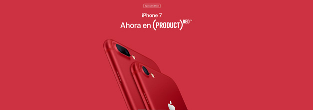 Apple anuncia los iPhone 7/ 7 Plus (PRODUCT)RED Special Edition