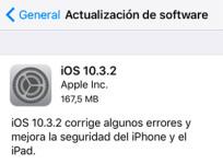 Apple lanza iOS 10.3.2, watchOS 3.2.2 y tvOS 10.2.1