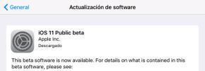 Cómo instalar la beta pública de iOS 11
