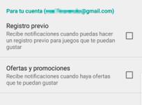 Recibe notificaciones de ofertas, descuentos y registros previos de juegos en Google Play