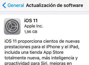 Cómo actualizar tu iPhone o iPad a iOS 11