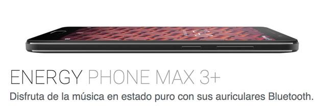 Energy Phone Max 3+, con batería de 4.000 mAh y auriculares Bluetooth de serie