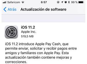 Ya disponible iOS 11.2, con Apple Pay Cash y carga rápida inalámbrica a 7.5W