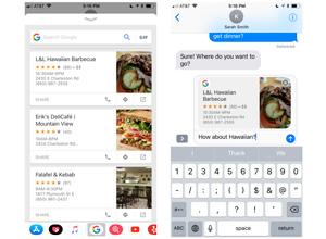 La app de Google permite realizar búsquedas desde iMessage