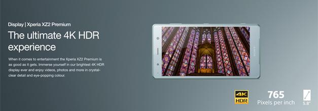 Sony sorprende con un nuevo buque insignia: Xperia XZ2 Premium, con pantalla 4K y cámara dual