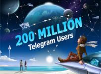 Telegram supera ya los 200 millones de usuarios activos al mes