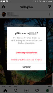 Cómo silenciar las publicaciones y Stories de un usuario en Instagram