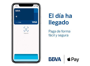 BBVA ya es compatible, por fin, con Apple Pay