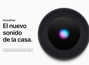 El HomePod llegará a España el 26 de octubre