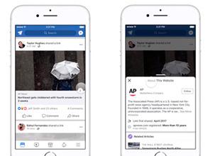 Contexto, el nuevo botón de Facebook para mostrar información extra sobre las publicaciones