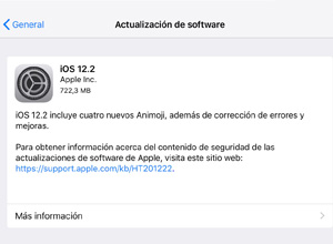 iOS 12.2 ya disponible