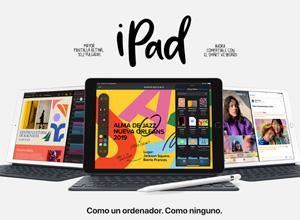 Nuevo iPad de 10.2 pulgadas: Apple hace crecer su tablet más económico