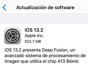 iOS 13.2 disponible, que estrena nuevos emojis y la función Deep Fusion para los iPhone 11/ 11 Pro