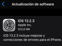 Apple lanza iOS/iPadOS 13.2.3