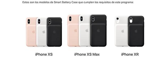 Apple habilita un programa de reemplazo de las Smart Battery Case para iPhone XS, iPhone XS Max y iPhone XR