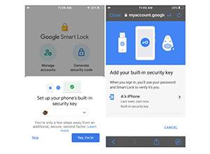 Google ya permite usar los iPhone y iPad como llave de seguridad física