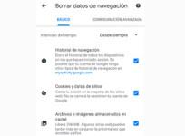 Cómo borrar en Android la caché y las cookies de Chrome